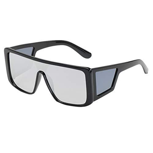 Gafas de sol de gran tamaño para mujer y hombre, de Transwen, cuadradas, gafas de sol de gran tamaño, estilo vintage
