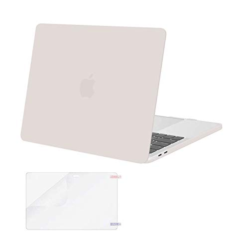 MOSISO MacBook Pro 13 inch Case 2020 2019 2018 2017 2016 Release A2338 M1 A2289 A2251 A2159 A1989 A1706 A1708, Plastic Hard Shell&Screen Protector Compatible with MacBook Pro 13 inch, Rock Gray