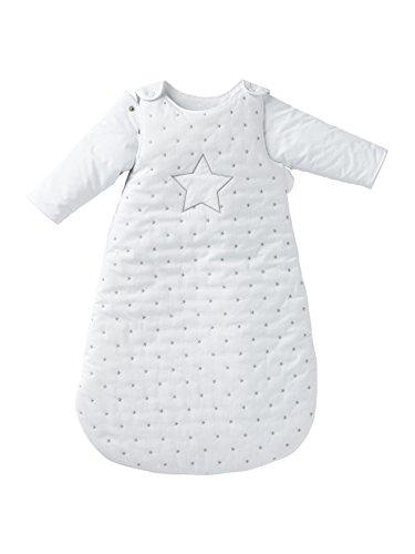 Vertbaudet Schlafsack Sternenregen, abnehmbare Ärmel weiß 85