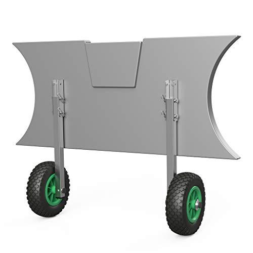 SUPROD Heckräder, Slipräder, Schlauchbooträder, Transporträder, klappbar, ET200, Edelstahl, schwarz/grün