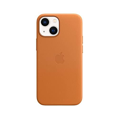 Apple Leder Hülle mit MagSafe (für iPhone 13 Mini) - Goldbraun