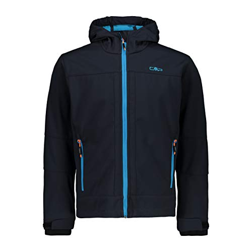 CMP Jungen Softshell Jacket with ClimaProtect WP 7.000 Technology Jacke, Anthracite-Light Blue, 140