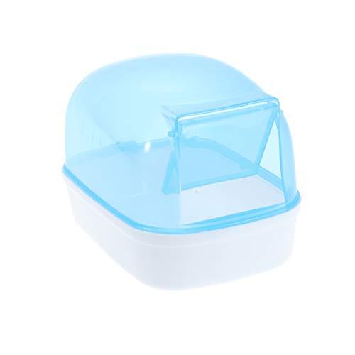 VILLCASE Hamstersand Bad mit Tür Kunststoff Sand Bad Behälter Hamster Bad Sauna Toilette Badewanne für Maus Hamster Chinchilla Ratte Rennmaus (Zufällige Farbe)