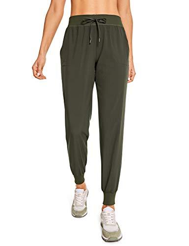 CRZ YOGA Pantalón Deportivo Mujer con Bolsillos Pantalones Harem con Cordones Dark Olive 42
