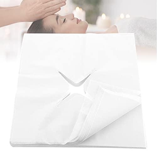 OrangeClub 200 Stück Einweg Profi Massageliege Gesichtsauflage Nasenschlitztücher Auflage, für Beauty SPA Massage 35x35 cm