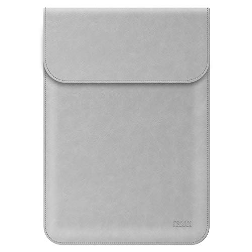 TECOOL Funda para Portátil 13-13.3 Pulgadas, Bolsa de Cuero Portátil Protectora Cover Sleeve para Macbook Air 13 (A1466/A1369) 2010-2017/2013-2015 Macbook Pro 13 Retina (A1502/A1425) - Gris