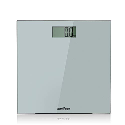 Accuweight Digital Bathroom Weight Scale with Smart Step-on Technology, 400lb/180kg (Battery Included)