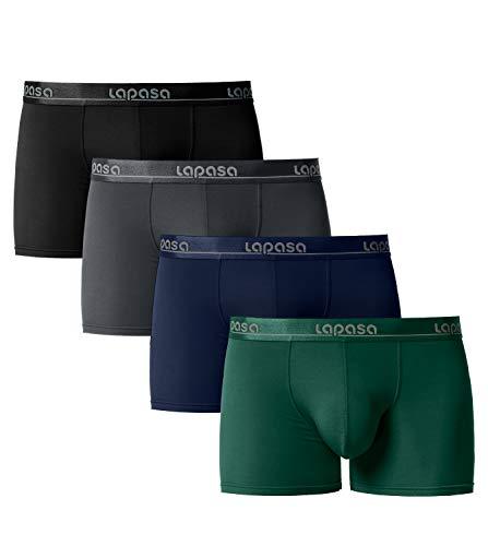 LAPASA Boxer Homme Lot de 4 en Micro Modal/Microfibre - Ultra Doux et Confortable M02,Multicolour-6 (Lot de 4),XXL