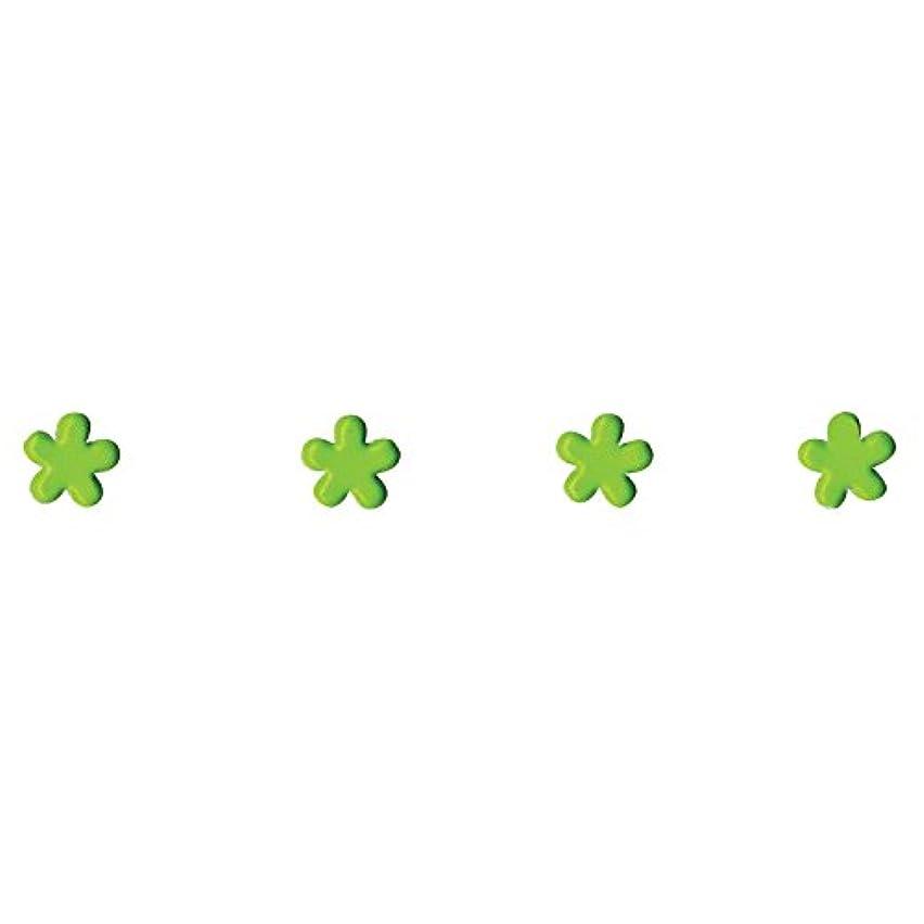 Artemio 11006214 100 Mini brads Flowers Green