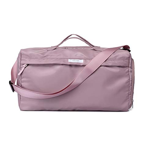 Duffel Bag Gym Bag Dry Wet Separated with Shoulder Strap Sports Duffel Bag Training Handbag with Shoes Compartment (Color : Pink, Size : 46x27x23cm)