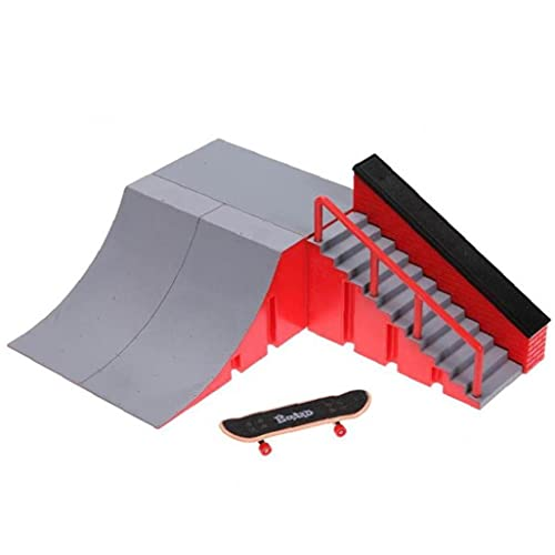 Mini Dedo Skateboards Ramp Accesorios Conjunto, Fijando Skate Park Rampa, Mini Dedo Skateboard