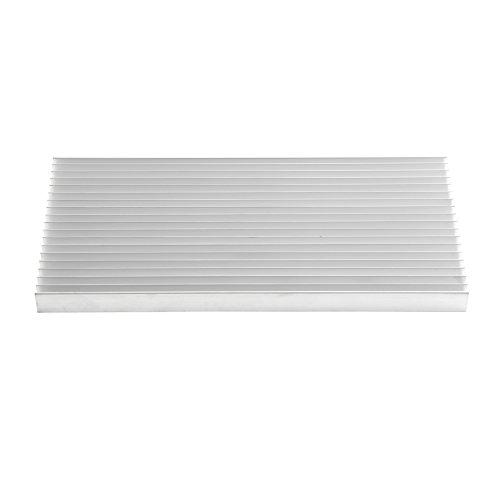 Aluminium Kühlkörper LED Heatsink Waerme Diffuse Kühler Kit Thermisch kühl Fin mit 19 Flossen 300 mm (L) x 140 mm (B) x 20 mm (H) Transistoren Halbleitergeräte