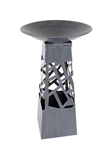 Metall Deko-Säule Silber 1 Stück - XL - 108cm