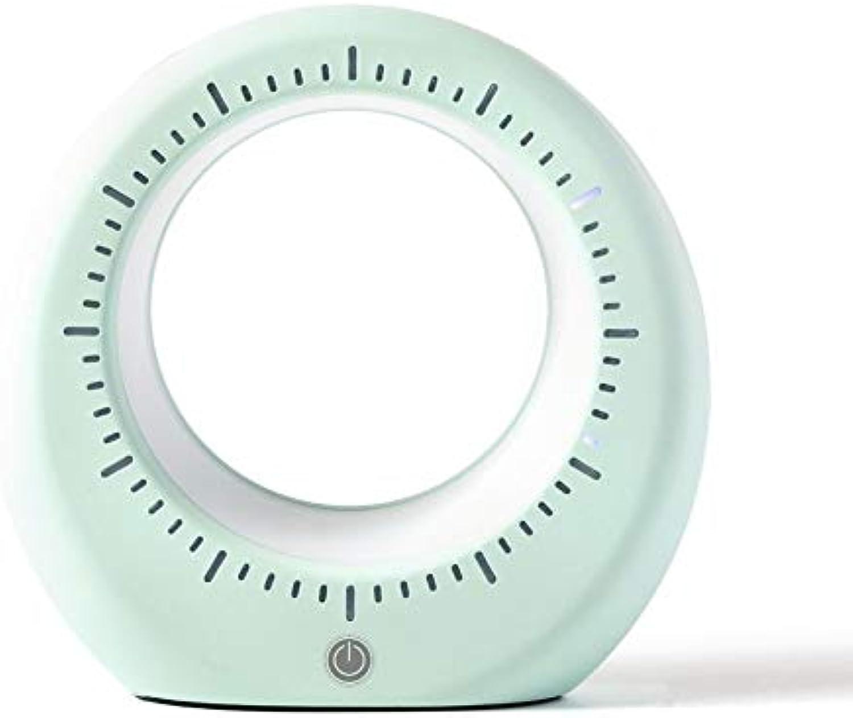AOKARLIA USB Monduhr leuchtet Nachttischlampe LED Tischleuchten Einstellbare Helligkeit Haus Dekoration Lampe Schlummerfunktion für Muttertagsfest Geschenk,Grün