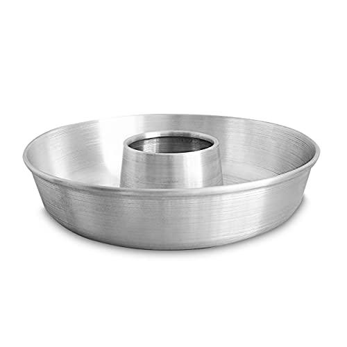 Aluminum Ring Cake Pan (9.5 in) - Ring Mold Pan - Tube Pan for Baking Pound Cake - Tube Cake Pan - Fluted Tube Pan - Flan Mold - Flan Cake Pan - Flan Pan - Chiffon Cake Pan - Bundt Cake Pan