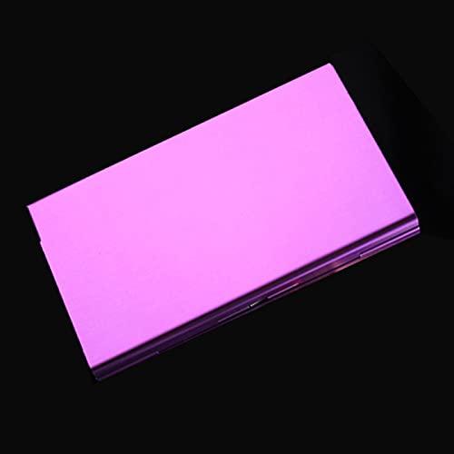 1 unidad portátil de tamaño de bolsillo para mujer, caja de cigarrillos con personalidad creativa súper fina, 20 pegatinas, caja de regalo de cigarrillo de Metal para mujer, caja púrpura
