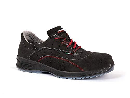 Giasco KU083T-42 Panama S1P - Scarpe antinfortunistiche, taglia 42, colore: Nero/Rosso