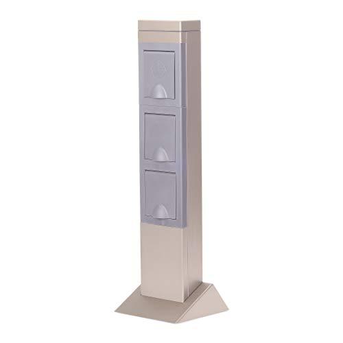 Steckdosensäule mit Zeitschaltuhr + Außensteckdose 2fach - Versorgt Sie draußen optimal mit Strom - Gartensteckdose mit Zeitschaltuhr Aussenbereich IP44 - Energiesäule Garten