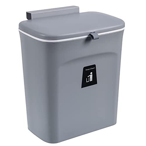 TIANTIAN Hanging Kitchen Trash Can, Sliding Cover Trash Bin Wall Mounted...