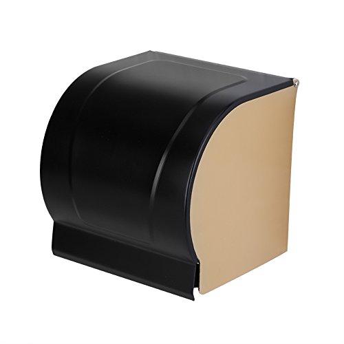stronerliou Espacio montado en la Pared Rollo de Papel higiénico de Aluminio Soporte para Toallas Caja de pañuelos Accesorio de baño