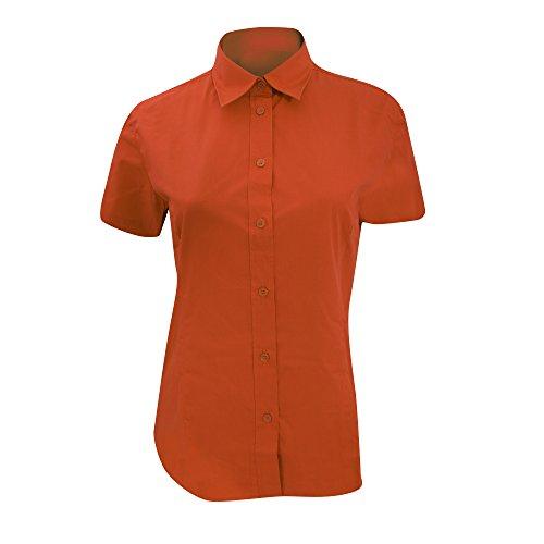 Kustom Kit Ladies Workforce Short Sleeve Shirt (12) (Black)