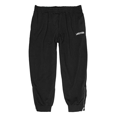 Lavecchia Tallas Extra Grandes Pantalón chándal Negro con más Delgado Tela de algodón 8XL - Negro, 4XL