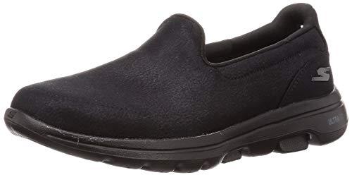 Skechers Go Walk 5, Zapatillas sin Cordones para Mujer, Negro (Black Textile/Trim BBK), 2 EU
