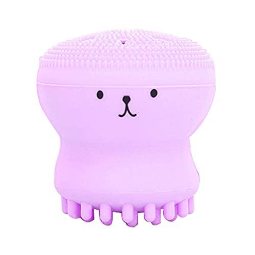 QQWA Octopus Octopus Siliconen Gezicht Reinigingsborstel Gezicht Wassen Product Porie Cleaner Exfoliator Gezicht Scrub Borstel Huidverzorging (paars)