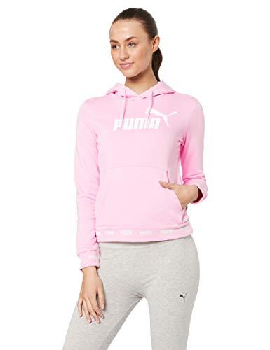 PUMA - Sudadera con capucha amplificada para mujer, Mujer, 854380, Rosa pálido, M