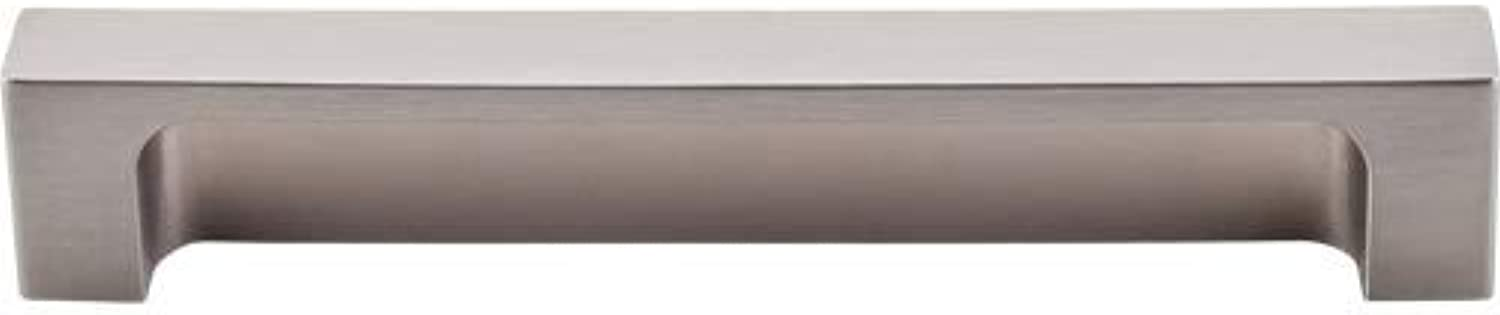 Top Knobs TK276 Modern Metro Series 5 inch Center Cup Pull, Brushed Satin Nickel by Cabinet Handles Pulls