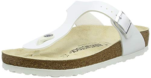 BIRKENSTOCK Damen Gizeh Zehentrenner, Weiß (Noir Magic Snake White Noir Magic Snake White), 41 EU