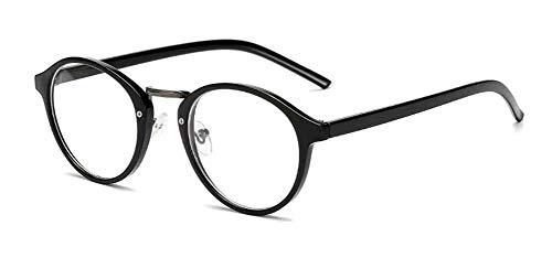 LHSDMOAT Gafas miopes para hombres y mujeres, gafas retro miopes, gafas transparentes de moda, gafas nerd clásicas -1,00
