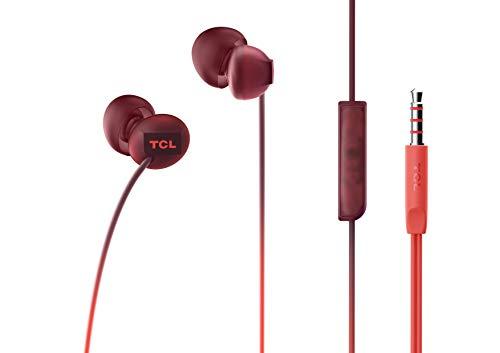 TCL SOCL300 In-Ear Kopfhörer mit Mikrofon (Geräuschisolierung, sicherer Halt, integrierte Fernbedienung und Mikrofon zur Steuerung von Musik und Anrufen, Echounterdrückung), Sunset Orange