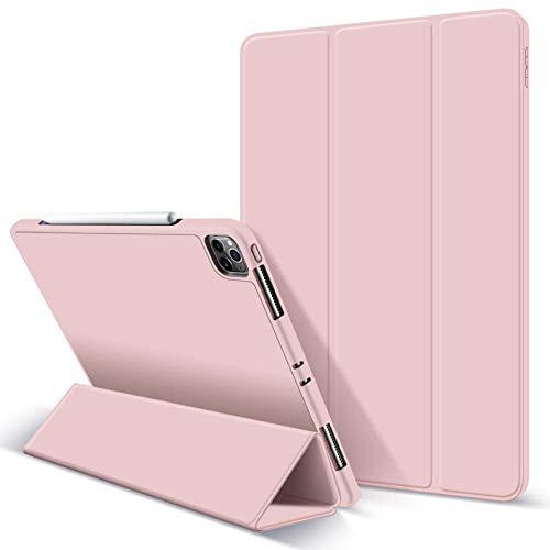 Huiran Estuche para Nuevo iPad Pro 11 2020 Estuche iPad Pro 2020 12.9 2da 4ta generaciónSoporte deEstuche magnético FuerteApple Pencil-Pink11