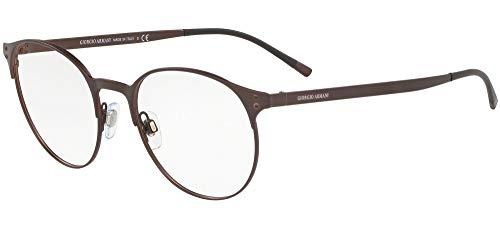 Giorgio Armani 0AR5093 Monturas de gafas, Matte Brown, 52 para Hombre