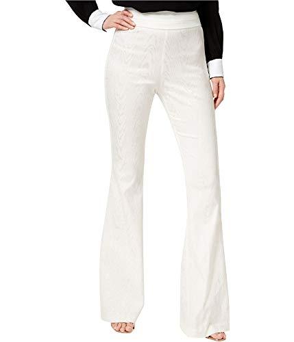 RACHEL ZOE Womens Liv Woodgrain Casual Trouser Pants, White, 8