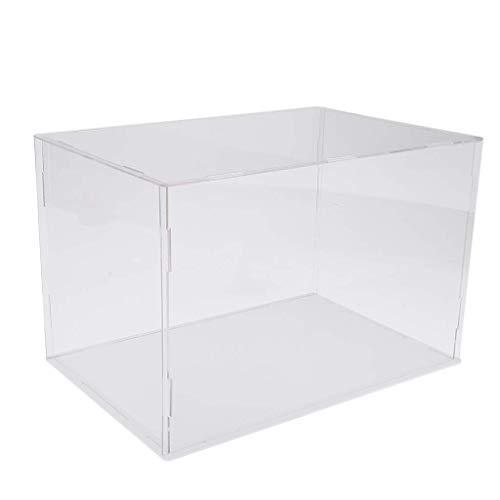 ZSMD 36 x 16 cm Perspex Cube Display Box Clear Acrylic Case Plastic Base Dustproof