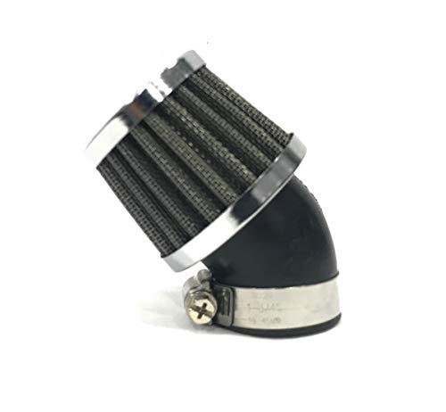 CMParts - Filtro de Aire de Potencia para carburador de moto para boca de Ø 35 mm. con inclinación a 45º
