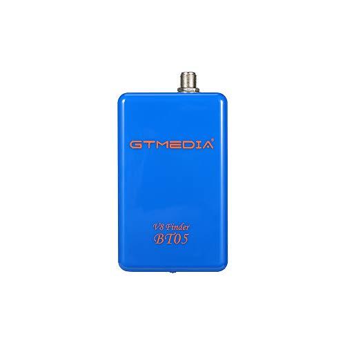 JUSHENG Nuevo GTmedia V8 buscador BT05 1080p Bluetooth DVB-S2 satélite buscador señal medidor con litio soporte Android e IOS sistema