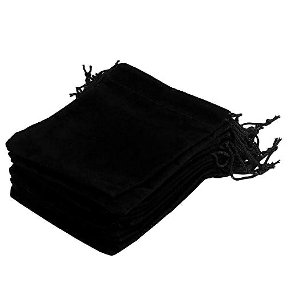 ヶ月目マラドロイト今日12 * 10cm 20pcs / Set美しいベルベットギフトジュエリー巾着ポーチバッグクリスマスウェディングギフトストレージバッグオーガナイザー-ブラック