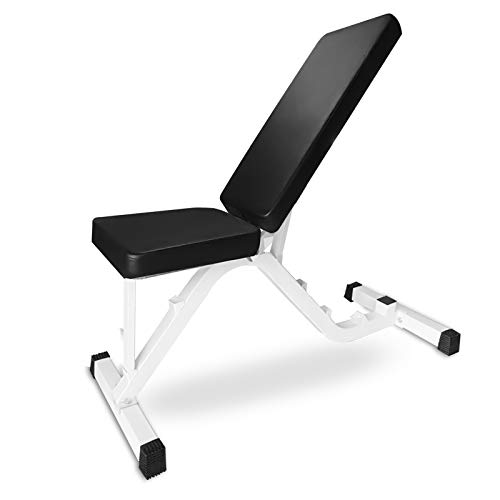 Weight Bench Adjustable, UMIKOOL Workout Bench for Multi-Purpose Weight Training and Ab Exercises Full Body Workout Home Gym(450Lbs Capacity)
