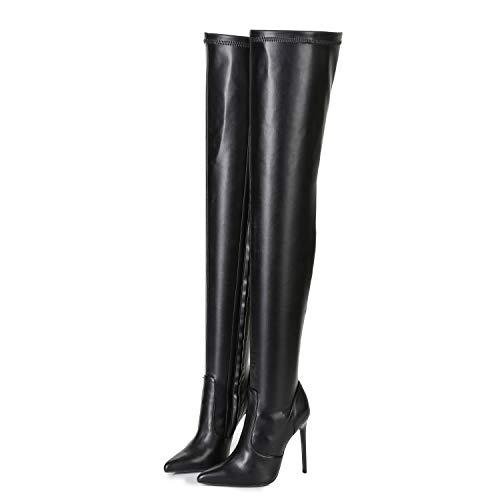 Ellie Tailor Doro Premium Stiefel für Damen - Elegante High-Heels - Kniestiefel mit hohem Absatz - Damenstiefel - Stöckelschuhe für Frauen - erhältlich in Schwarz Matt (Schwarz Matt, Numeric_46)