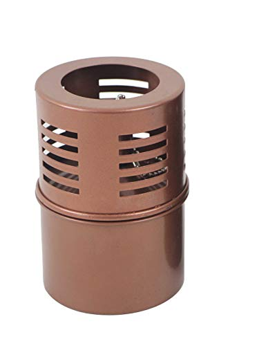 Torch Tabletop Oil Lamp Copper Stainless Steel Metal Wind Shield with Extra Fiberglass Wick with Safety Lock Wick Protection Child Guard