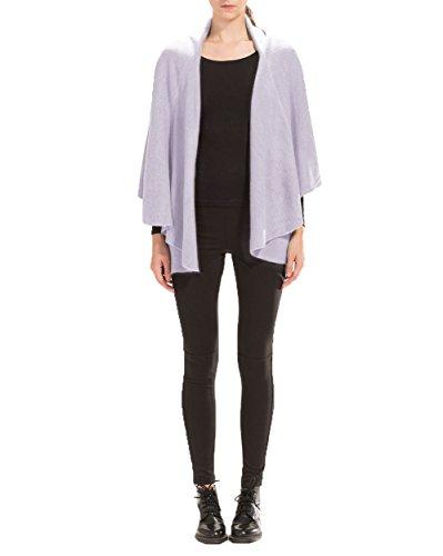 Look by M Women's Draped Basic Shawl Vest (Lavender)