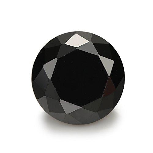 500PCS 1.5mm AAAAA Round Machine Cut Black Loose CZ Stones Cubic Zirconia (1.5mm 500pcs)