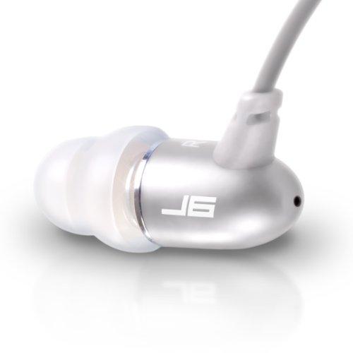 JLab Audio J6 High Fidelity Metal Ergonomic Earbuds Style Headphones, Guaranteed for Life - Titanium Silver