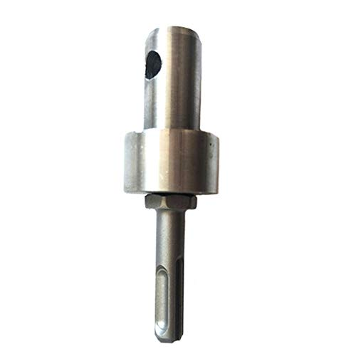 Auger Adapter Plug 2 Pits 2 Slots Drill Accessories Round Shank Rotary Tool Drill Parts for Wood Aluminium Copper Iron