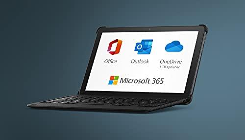 Neu: das Fire HD 10 Plus-Tablet, 64 GB, schiefergrau, ohne Werbung + Bluetooth-Tastatur + 12-monatiges Abonnement für Microsoft 365 Single