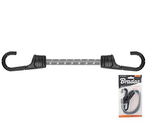 2 Stück Spanngummi Set mit metall PVC Haken 0,8x40cm Gummispannseil Gummispanner Planenspanner BCH2-08040GY-B Bradas 5396