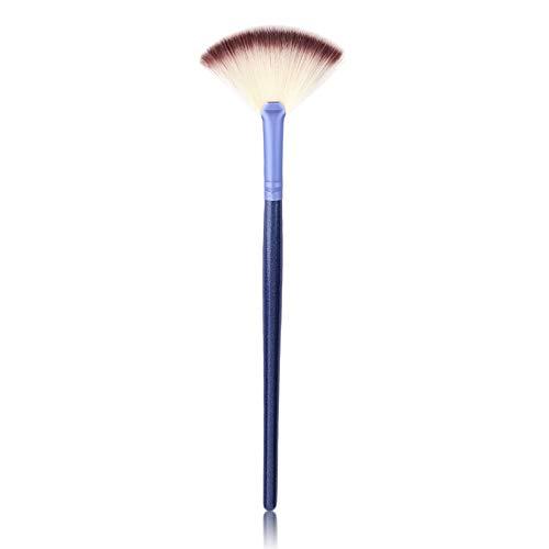 Mode Confortable Ventilateur En Forme De Maquillage Unique Brosse Faciale Fondation Beauté Soins De La Peau Outils Cosmetic Brushes - Bleu